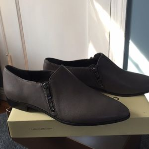 Franco Sarto side zip loafers